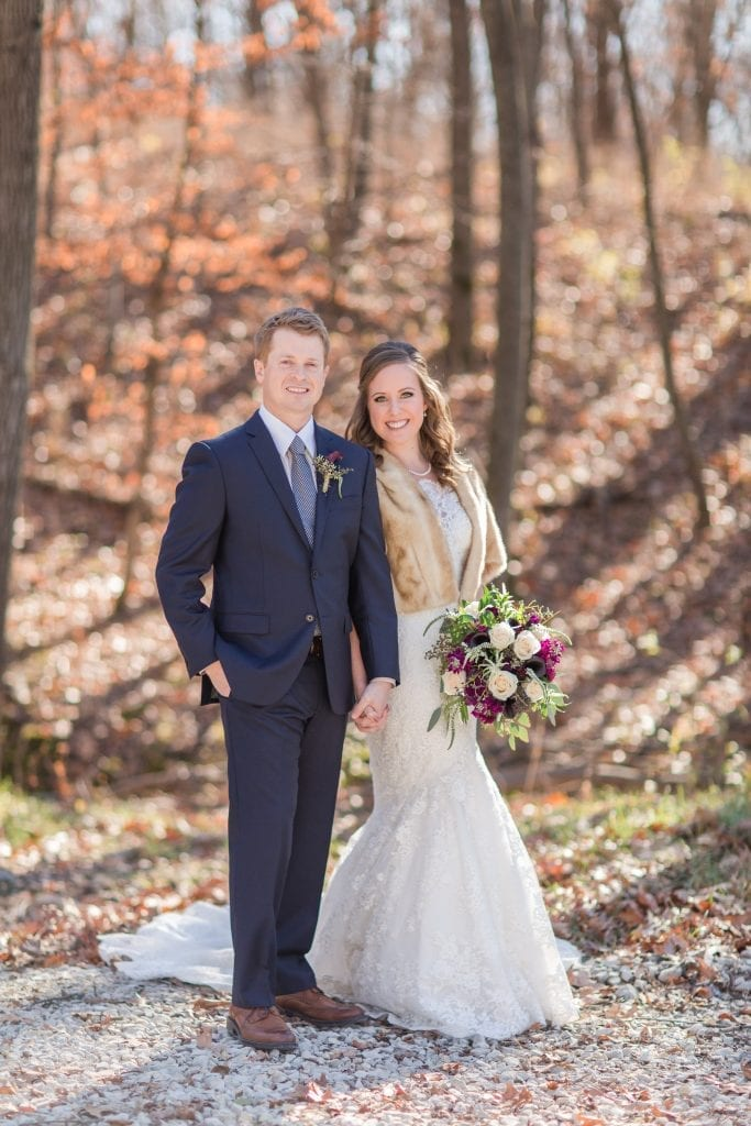 Bride & Groom – Country Lane Lodge Fall Outsides