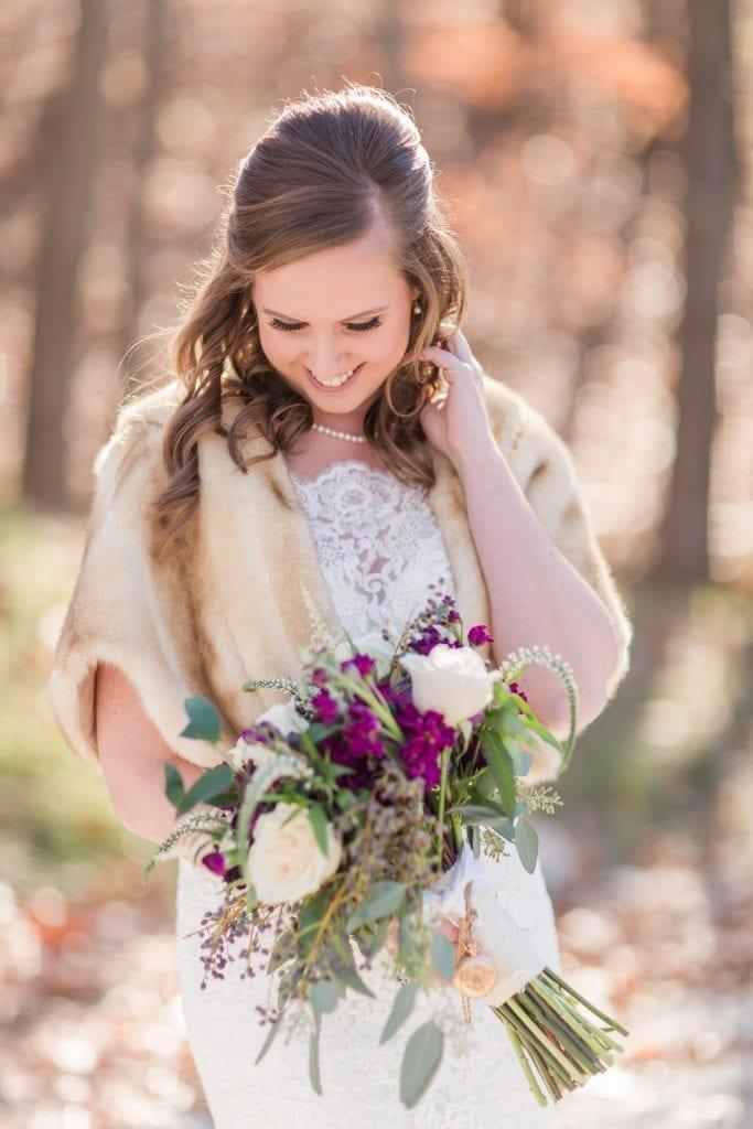 Bride – Country Lane Lodge Fall Outside