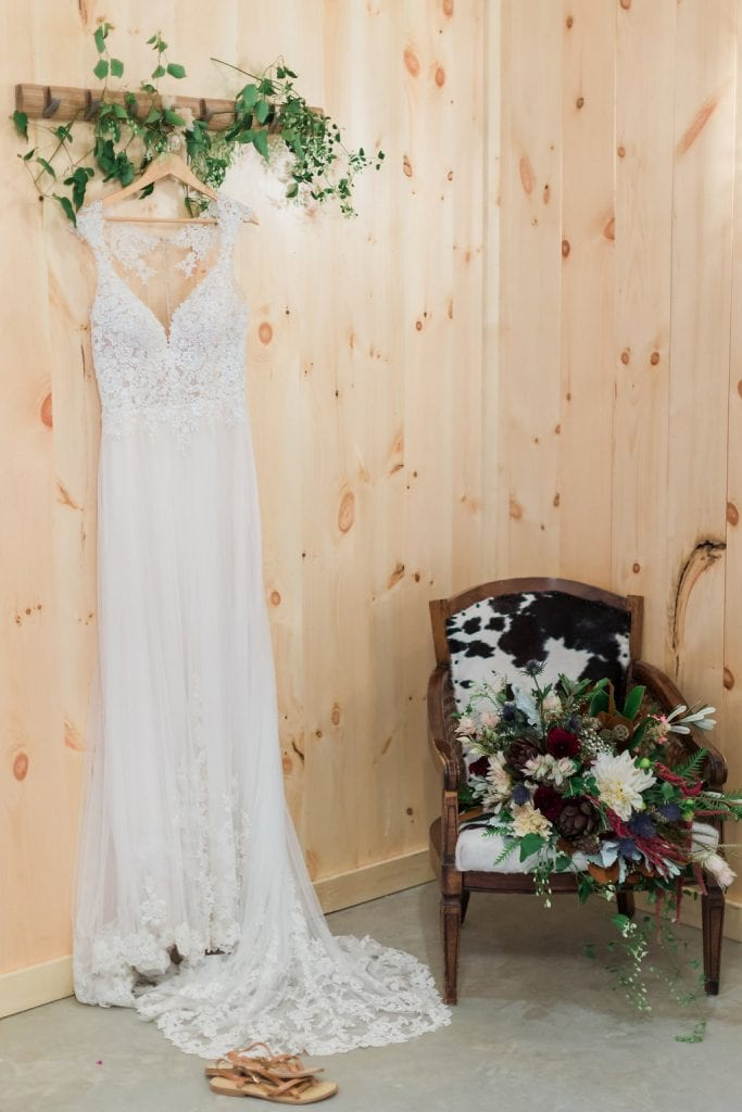 Wedding Dress in Bride's Room – Country Lane Lodge