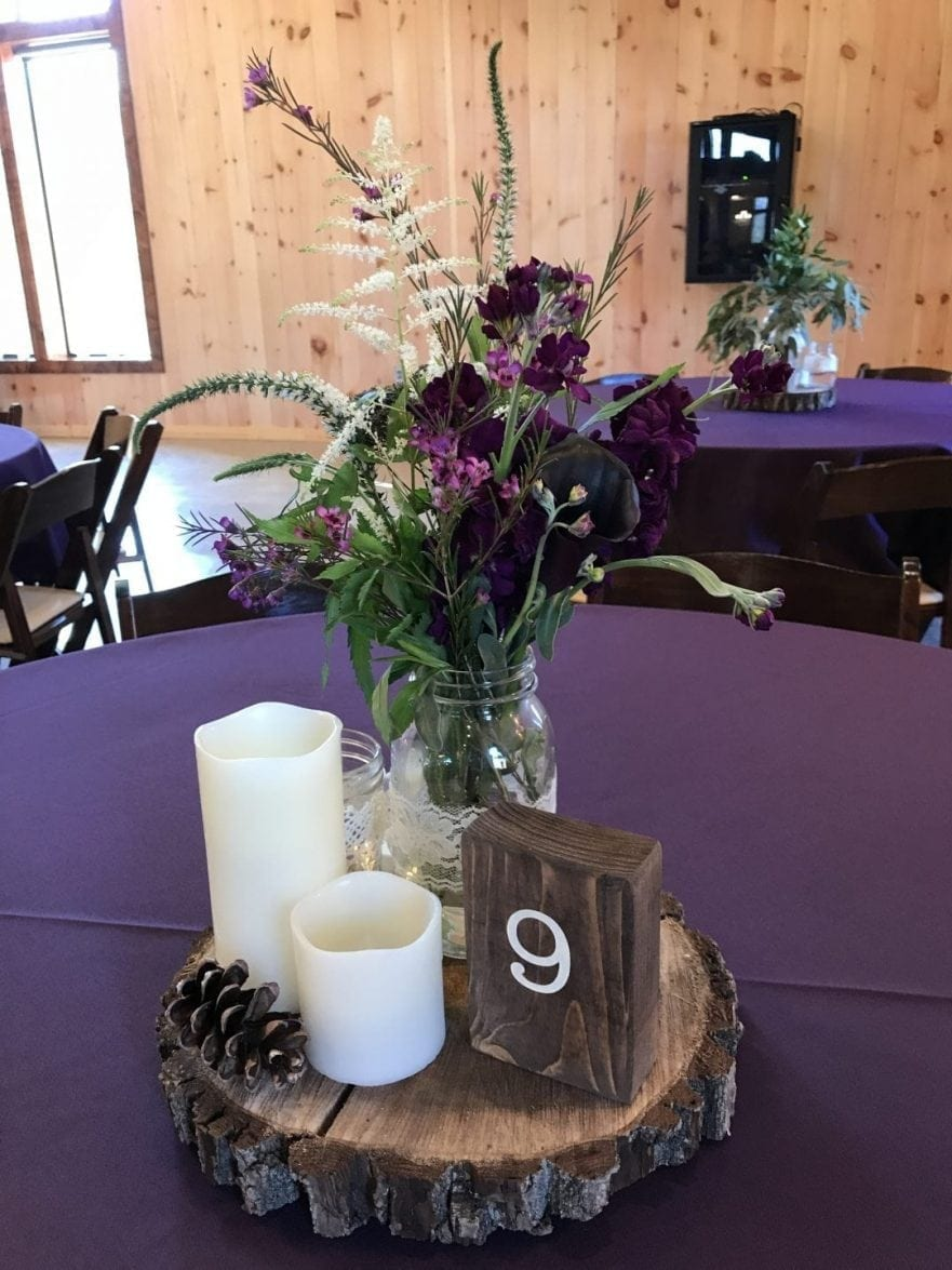 Table Decorations - Country Lane Lodge