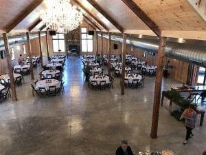 Dance Floor - Custom Table Setup - Country Lane Lodge