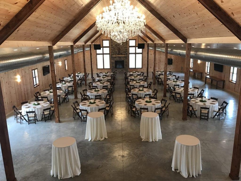 Warm Custom Table Set Ups at Country Lane Lodge