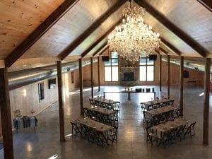 Small Custom Table Setup - Country Lane Lodge