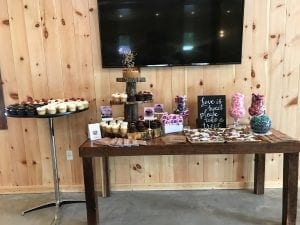 Cake and Treat Tables - Graduations, Weddings, Anniversaries at Country Lane Lodge