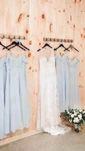 Dresses in the Bride's Room - Country Lane Lodge