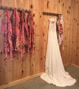 Robes in the Bride's Room - Country Lane Lodge