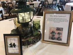 Family Mementoes used for decorations at Country Lane Lodge near Des Moines, Iowa